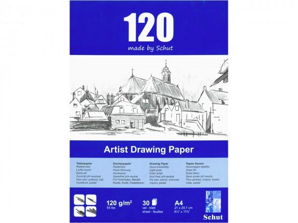 Zeichenblock 120g/m Format A3 (29.7 x 42 cm)