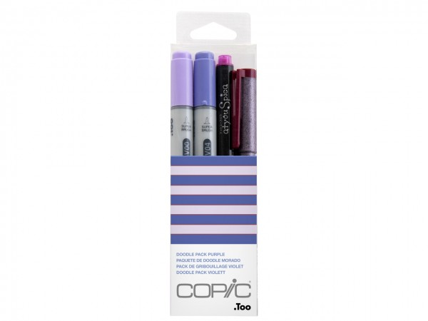 COPIC® ciao Marker 4er Set / Doodle Pack Purple