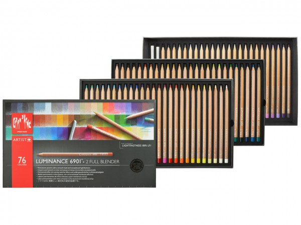 Farbstifte Luminance 6901®, Set mit allen 76 Farben in einer Kartonbox