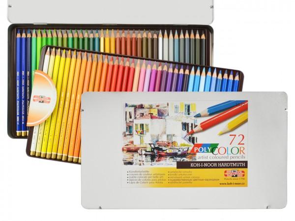 Farbstifte Polycolor, Metallschachtel mit 72 Farben