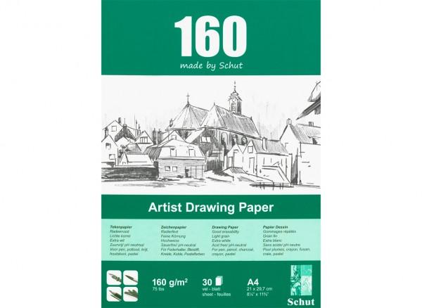 Zeichenblock 160g/m Format A4 (21 x 29.7 cm)