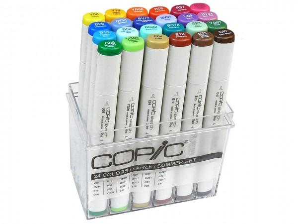 COPIC® sketch Marker, Set mit 24 Sommerfarben
