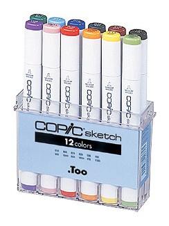 COPIC® sketch Marker, Set B mit 12 Grundfarben