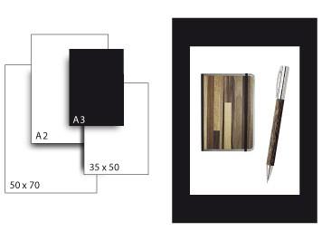Präsentationskarton SeriTone 4 / Format A3 / 10 Bogen / schwarz-weiss