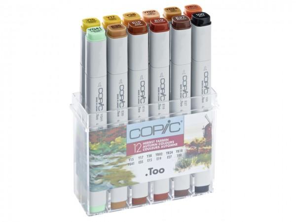 COPIC® Marker, Set mit 12 Herbstfarben