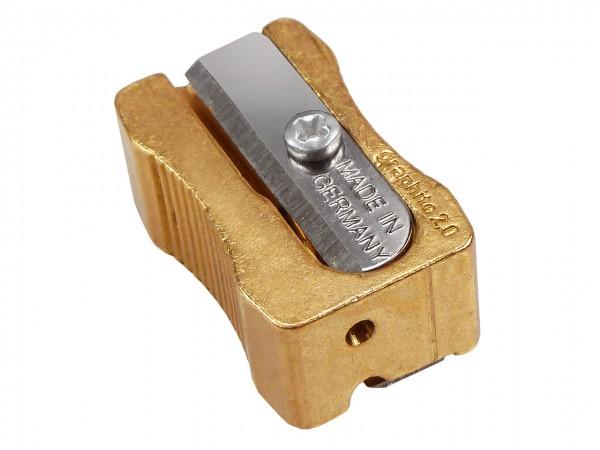 Minen-Handspitzer 814 aus Messing, für 2 Breiten