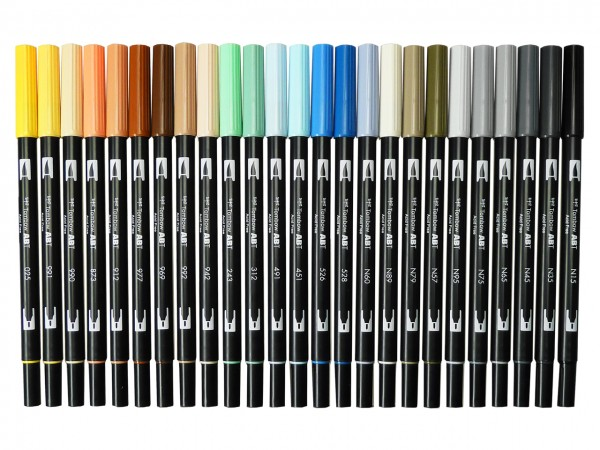 TOMBOW ABT Dual Brush Pen, 25 Architekturfarben
