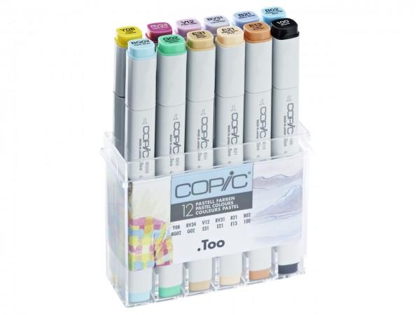 COPIC® Marker, Set mit 12 Pastellfarben