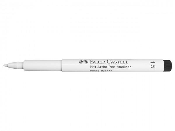 Faber-Castell PITT artist pen weiss, fineliner 1,5 mm
