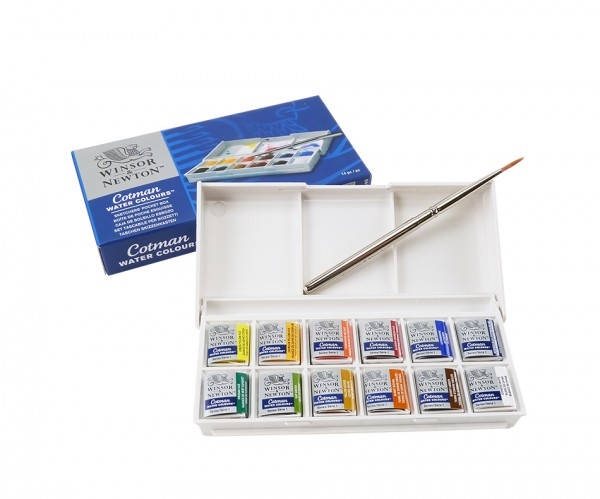 Aquarell Cotmann Farben Pocket Box von Windsor & Newton