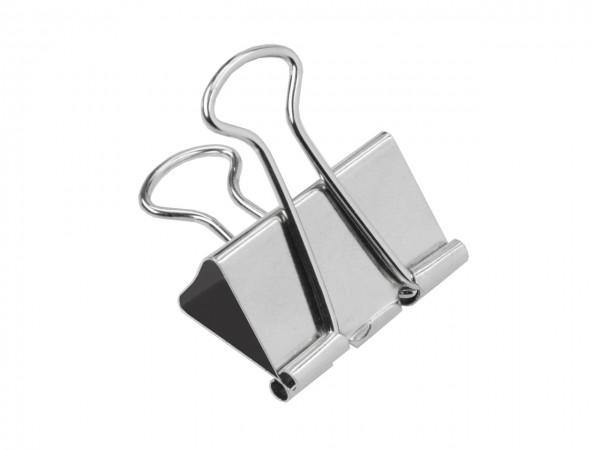 Umlege-Klammern silber 19 mm / Pack mit 10 Stück