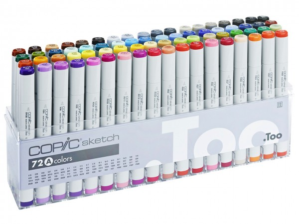 COPIC® sketch Marker, Set A mit 72 Farben
