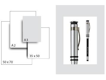 Präsentationskarton SeriTone 1 / Format A3 / 10 Bogen / hellgrau-weiss