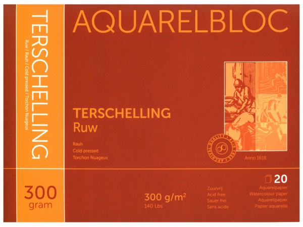 Aquarellblock TERSCHELLING Rauh Format 24 x 30 cm