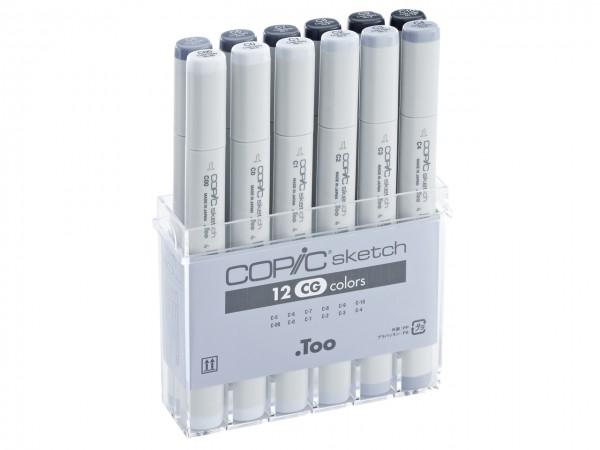 COPIC® sketch Marker, Set mit 12 Grautönen / Cool Gray