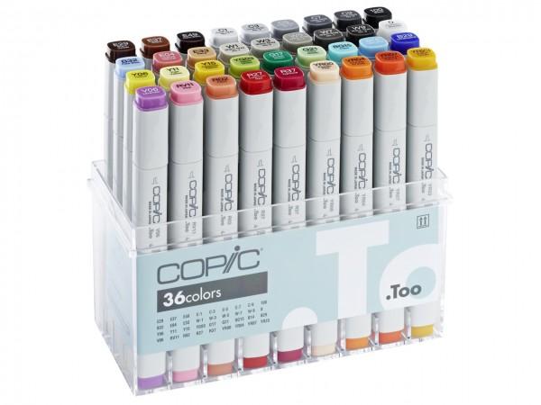 COPIC® Marker, Set mit 35 Basisfarben + Blender