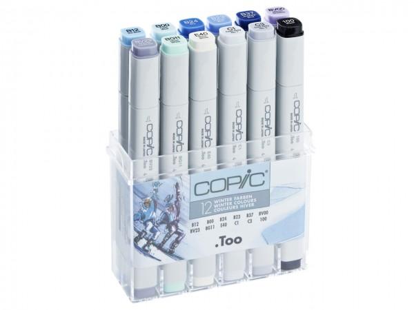 COPIC® Marker, Set mit 12 Winterfarben