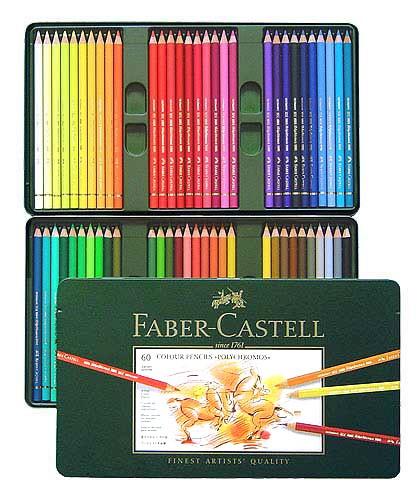 Farbstifte Polychromos, Set mit 60 Farben in einer Metallschachtel