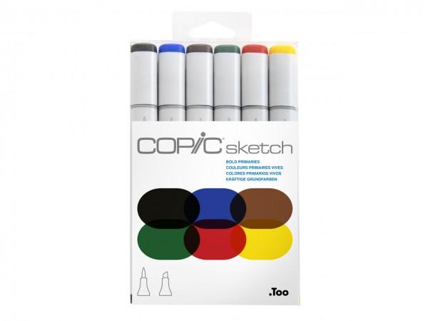 COPIC® sketch Marker 6er Set / Bold Primiaries