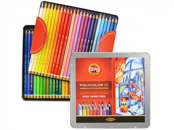 Farbstifte Polycolor, Metallschachtel mit 48 Farben