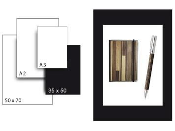 Präsentationskarton SeriTone 4 / Format 35 x 50 cm / 10 Bogen / schwarz-weiss
