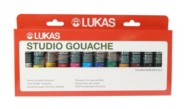 Lukas Studio Gouache 20 ml Tuben, Set mit 12 Farben