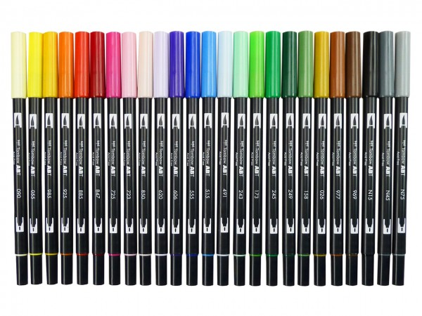 TOMBOW ABT Dual Brush Pen, 25 Basisfarben