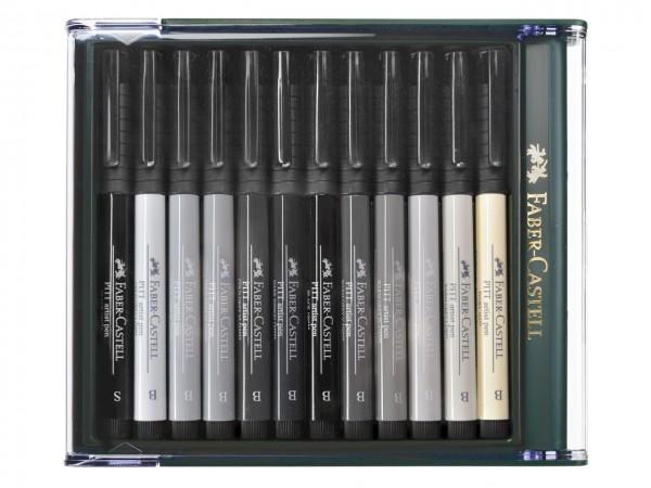 Faber-Castell PITT artist pen Brush 12 Grau-Töne