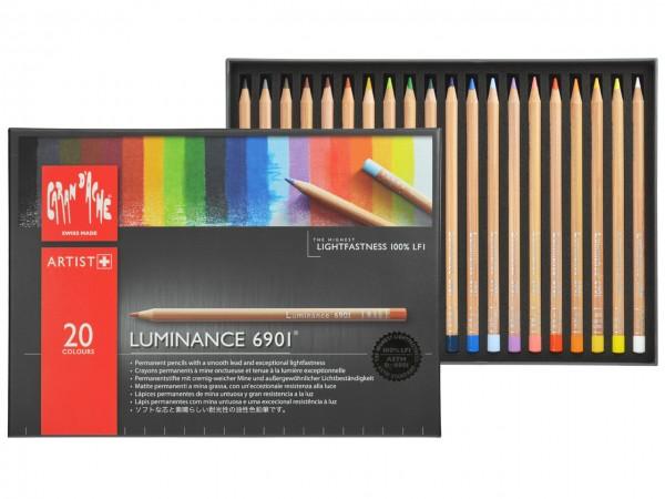 Farbstifte Luminance 6901®, Set mit 20 Farben