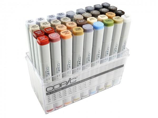 COPIC® Marker, Set mit 35 Architekturfarben + Blender