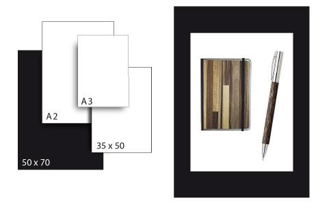 Präsentationskarton SeriTone 4 / Format 50 x 70 cm / 25 Bogen / schwarz-weiss