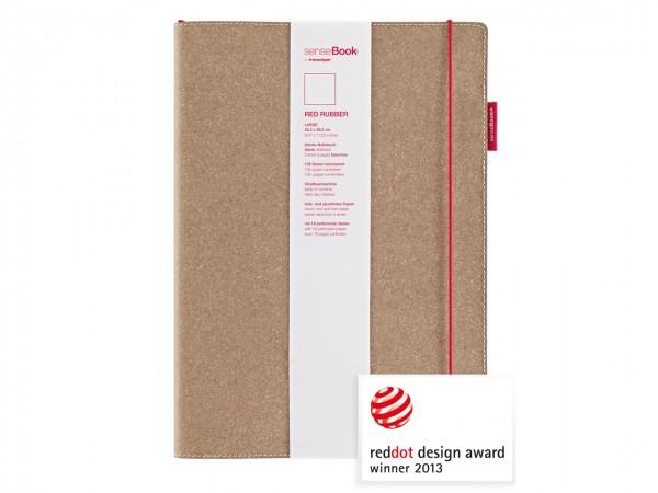 senseBook RED RUBBER / Notizbuch, large