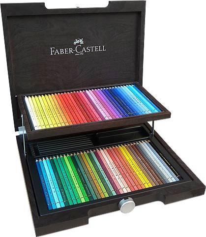 Farbstifte Polychromos, Set mit 72 Farben im Holzkoffer