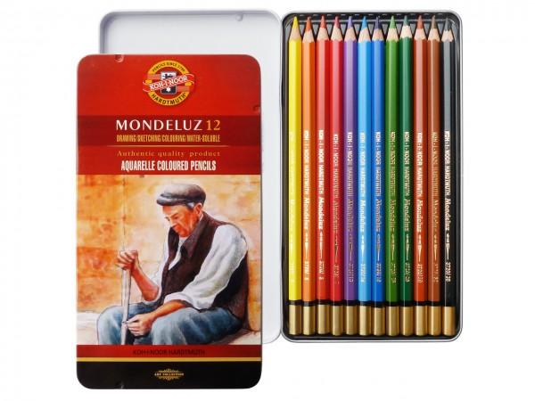 Farbstifte Mondeluz, Metallschachtel mit 12 Grundfarben