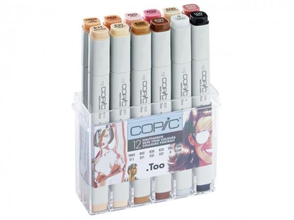 COPIC® Marker, Set mit 12 Hautfarben