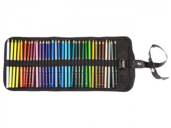 Farbstifte Polychromos, Set mit 34 Farben im Stiftegürtel