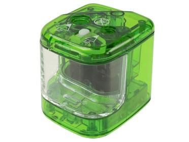 Spitzmaschine batteriebetrieben / grün - transparent