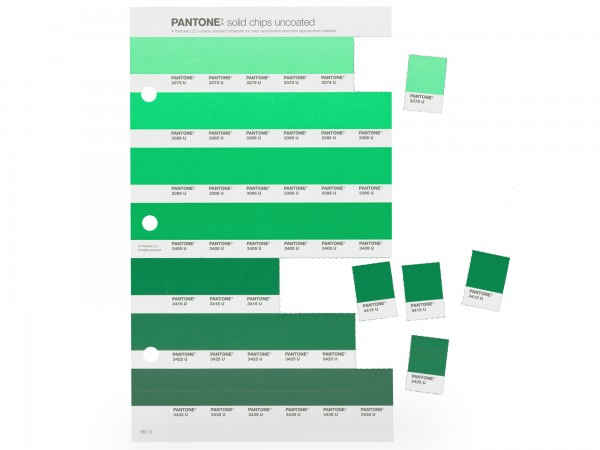 PANTONE® PLUS SERIERS SOLID CHIPS Ersatzseiten matt U / uncoated