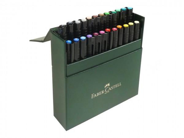Faber-Castell PITT artist pen Brush Atelierbox mit 24 Farben