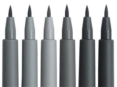 Faber-Castell PITT 6 artist pen shades of grey