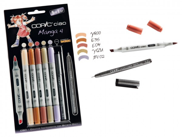 COPIC® ciao Marker, Aktionsset 5 + 1 / Manga 4
