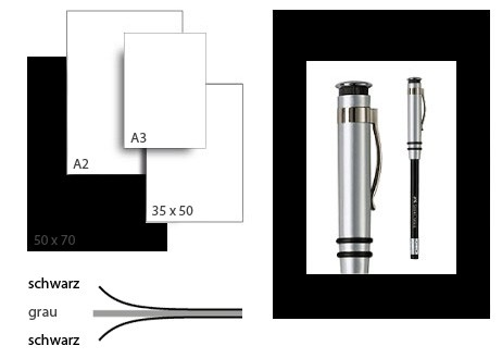 Präsentationskarton grafikColor / Format 50 x 70 cm / 10 Bogen / schwarz-schwarz