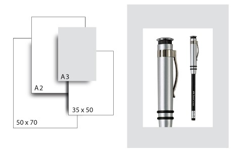 Präsentationskarton SeriTone 1 / Format A3 / 25 Bogen / hellgrau-weiss