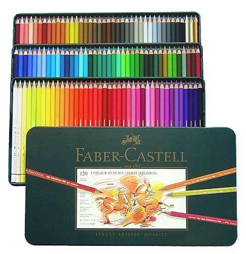 Farbstifte Polychromos, Set mit 120 Farben in einer Metallschachtel