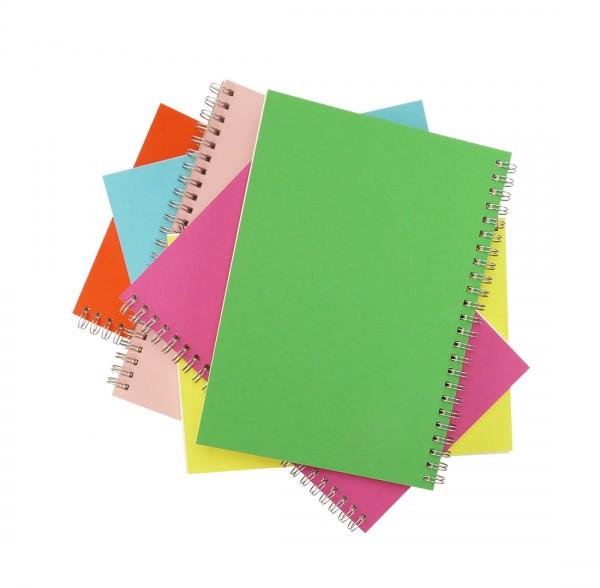 Skizzenbücher handgemacht in der Schweiz, A5 hoch, Frühlingsfarben