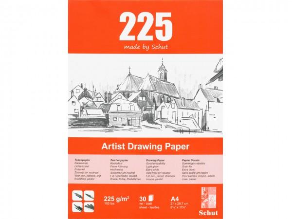 Zeichenblock 225g/m Format A4 (21 x 29.7 cm)