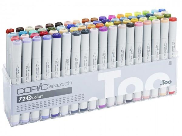 COPIC® sketch Marker, Set D mit 72 Farben