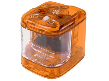 Spitzmaschine batteriebetrieben / orange - transparent