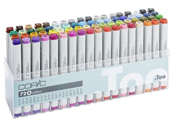 COPIC® Marker, Set A mit 71 Farben + Blender