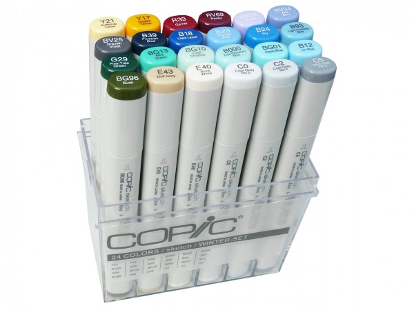 COPIC® sketch Marker, Set mit 24 Winterfarben